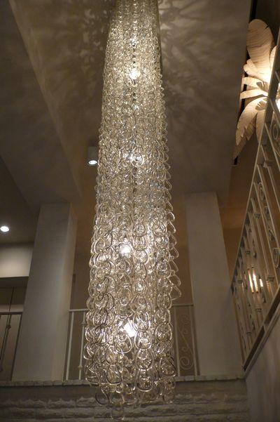Parker lucite chandelier