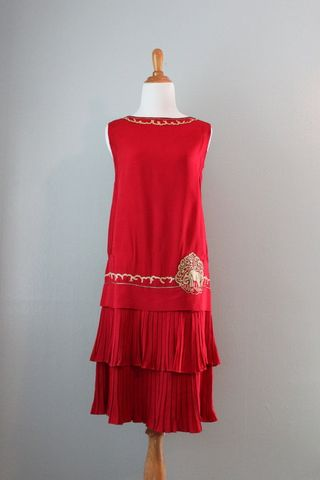 Red elephant silk flapper
