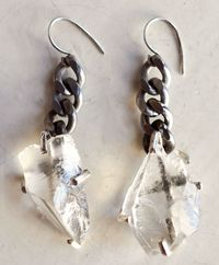 Unearthen_quartz shard earrings