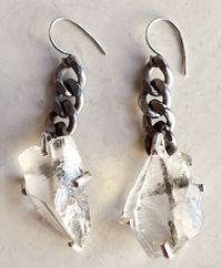 Unearthen_quartz shard earrings
