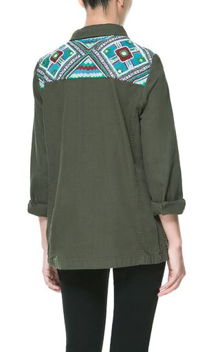 Zara Overshirt w_Beaded Yoke