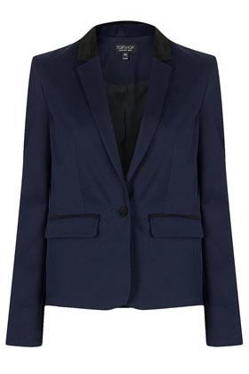 Topshop_contrast collar jacket