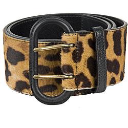 Ysl leopard belt